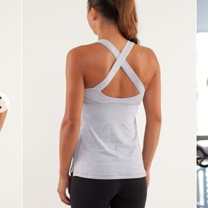 Lululemon Top Speed Tank in Heathered Silver Slate